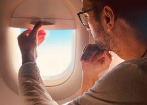 Airplane Window Shut Flight Attendant Close Sleep