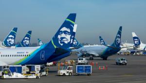 alaska airlines tails at SEATAC