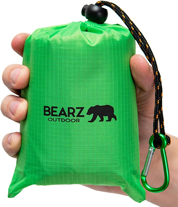 Bearz Outdoor Beach Blanket in green