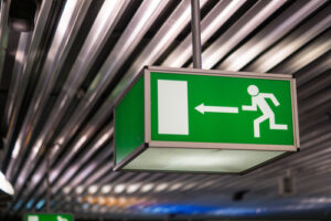 emergency exit sign airport