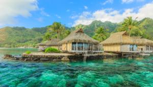 Overwater hut in Tahiti