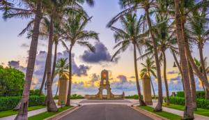 palm beach clock tower in west palm beach florida