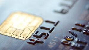 Chip Credit Card Close Up