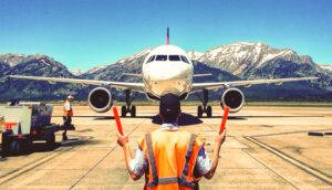 airplane runway air traffic control