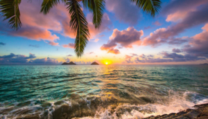 kailua sunrise in hawaii