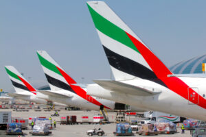 Emirates-airplanes-parked-at-gate