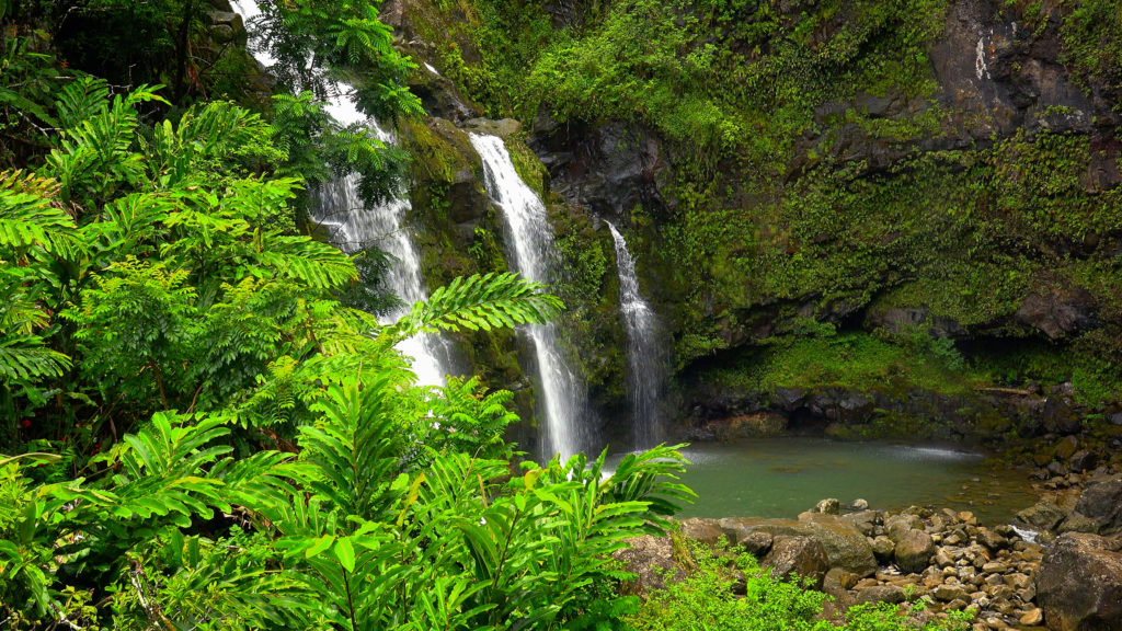 Upper Waikani Falls, Hawaii
