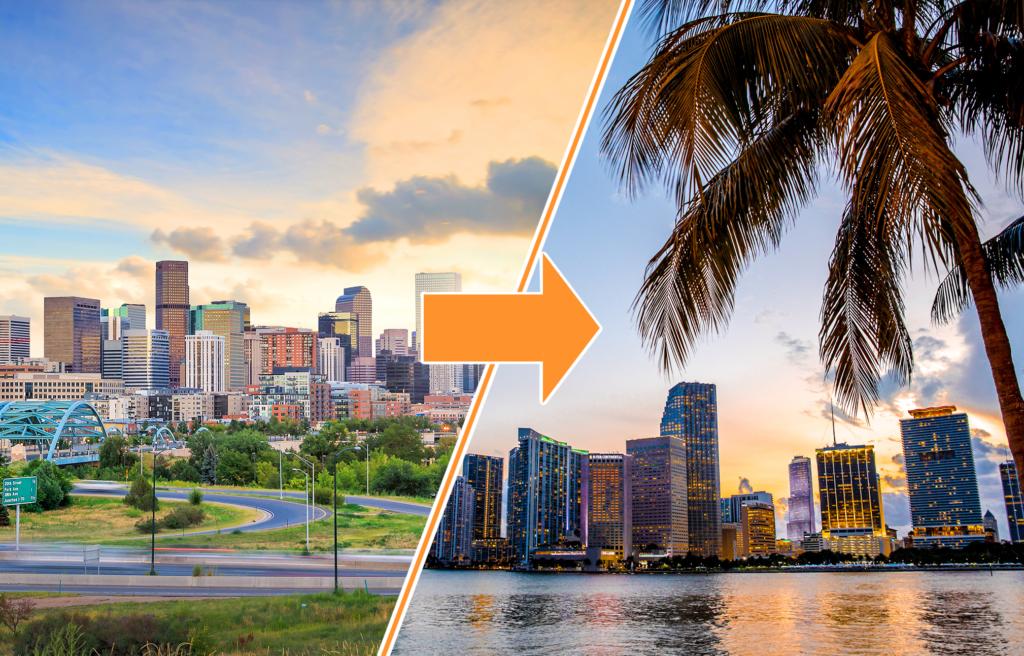 Denver, Colorado to Miami, Florida