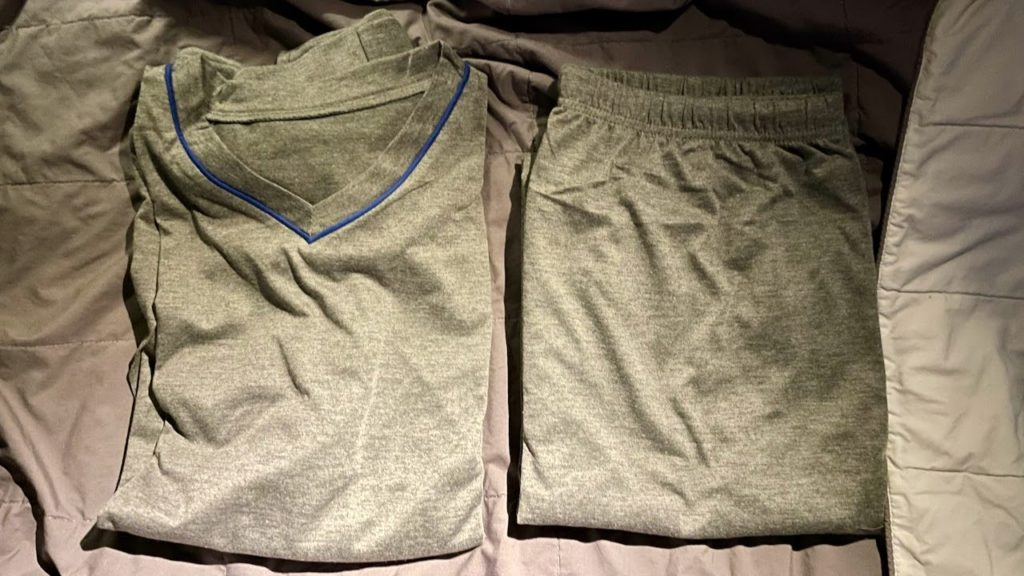 Pajamas provided on American Airlines Business Class flight