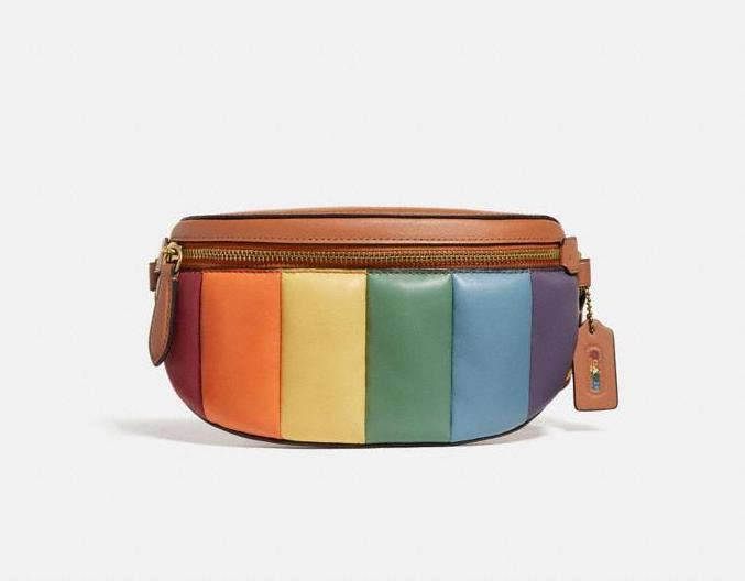 Coach Bethany Belt Bag With Rainbow Quilting