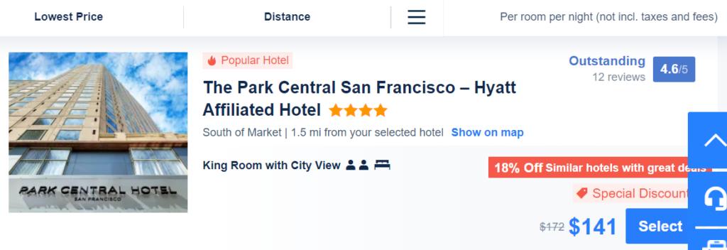 Screenshot of Trip.com hotel listing
