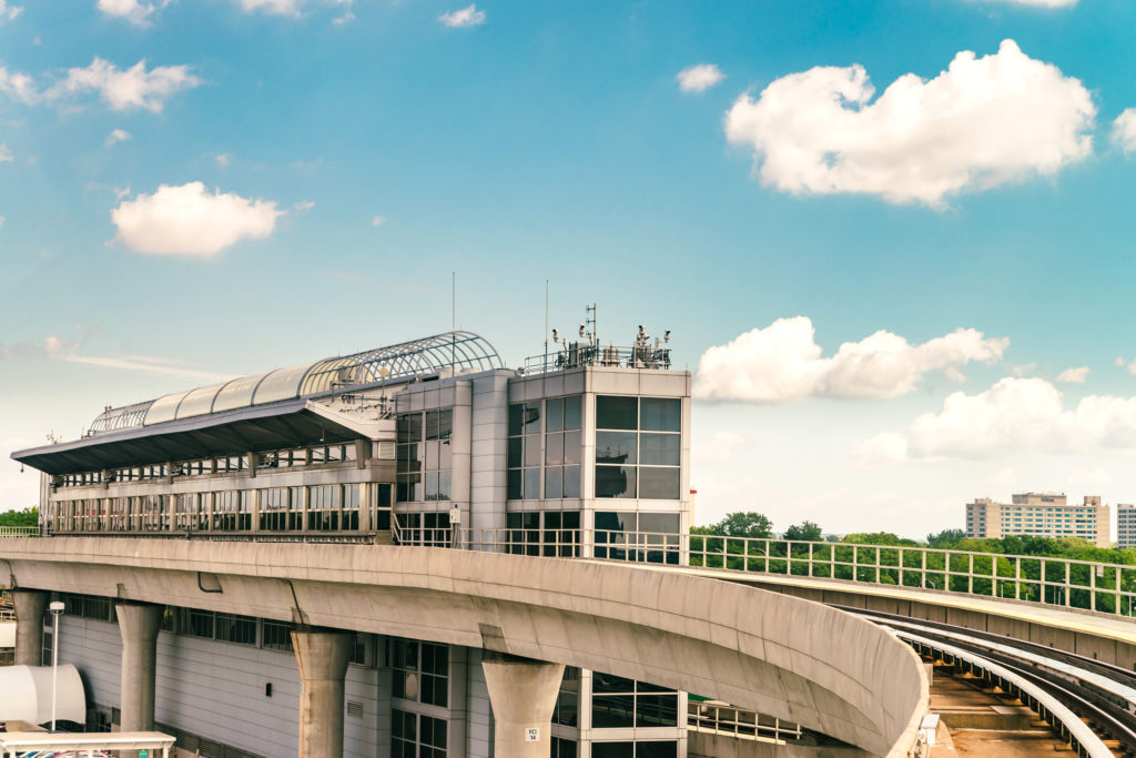 AirTrain track at JFK Airport