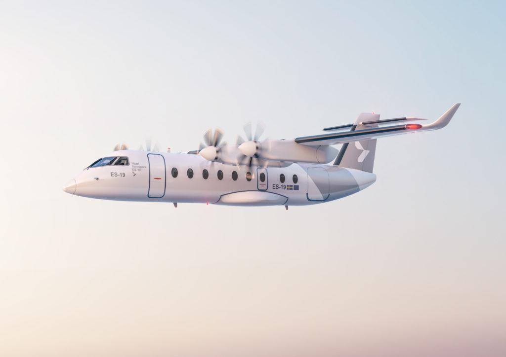 Digital model of the Heart Aerospace ES-19 electric airplane