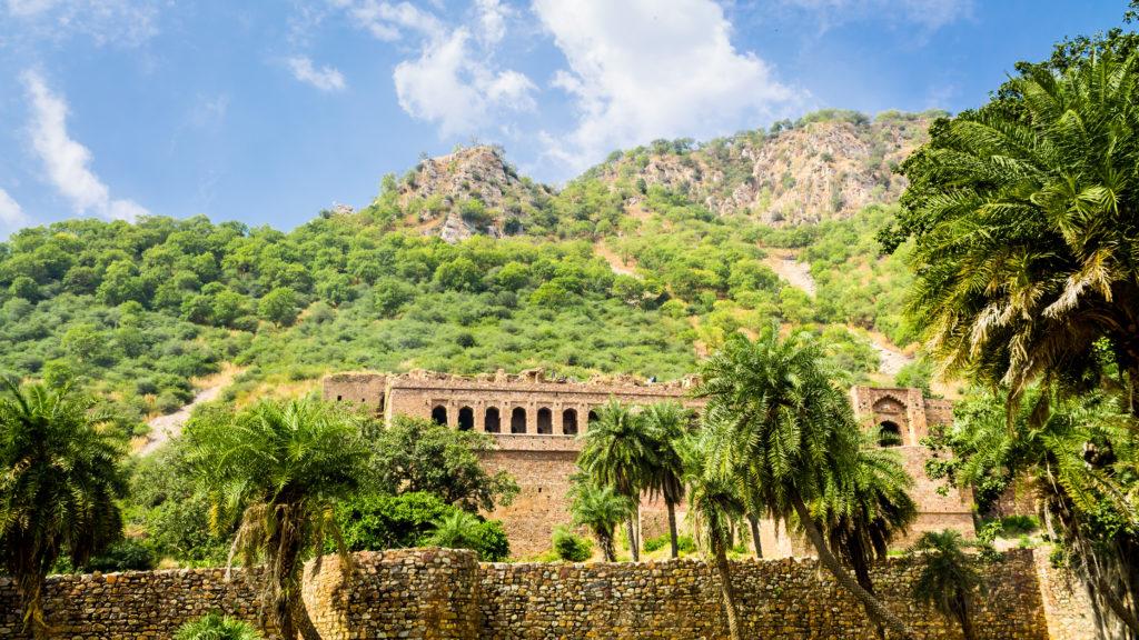 17th century fort ruins at Bhangarh, India