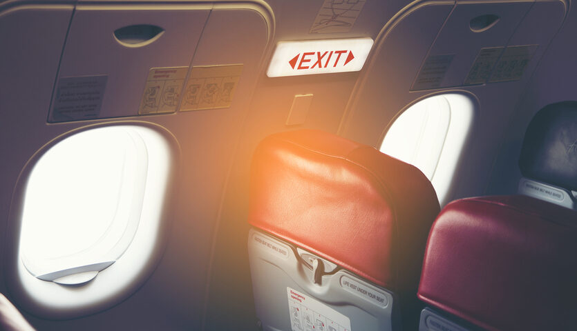 exit row seats on an airplane