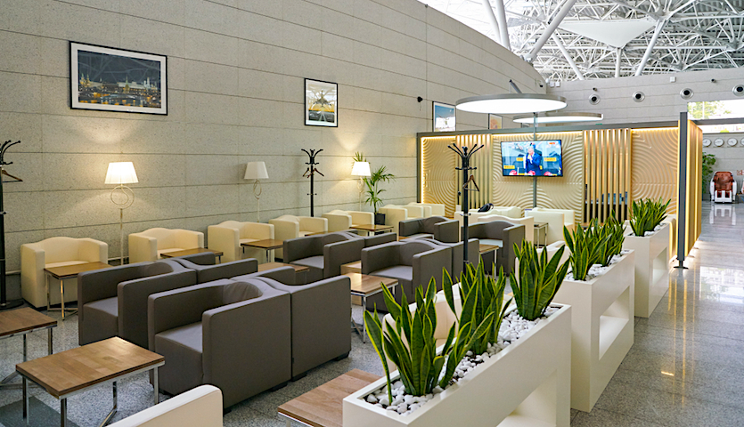 Airport lounge in Moscow Priority Pass