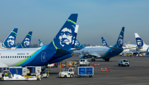 alaska airlines tails at SEATAC