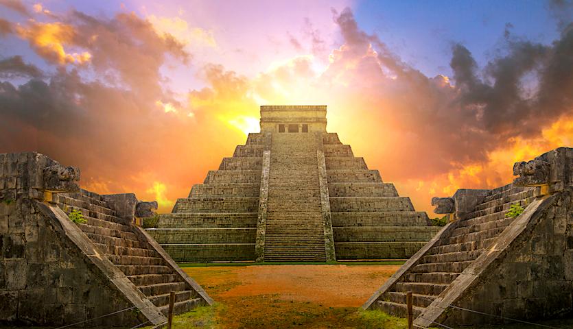 Chichen Itza temple in Yucatan Mexico Quintana Roo near Cancun