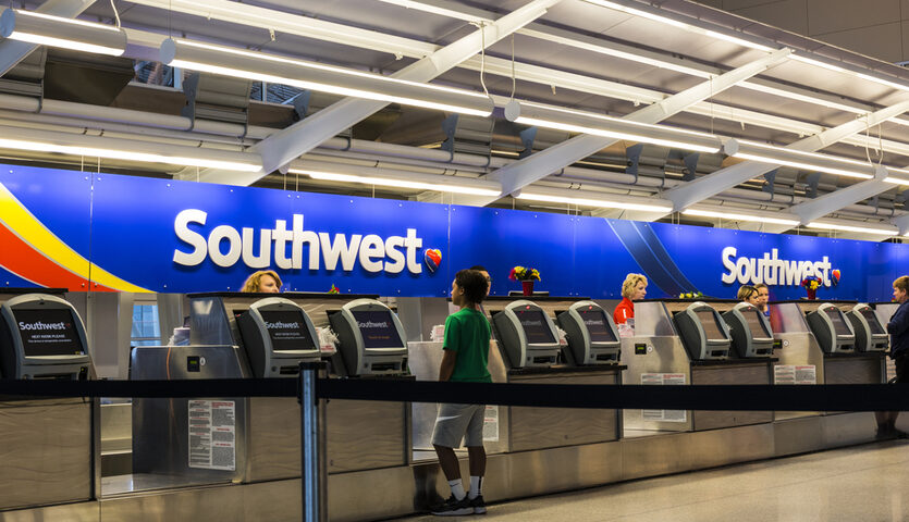 southwest airlines check in desk