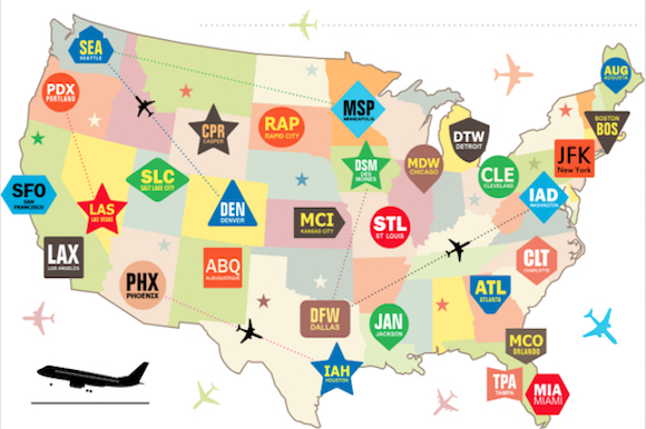 15 Weird Airport Codes And How They Came To Be Airfarewatchdog Blog - Us-map-with-airport-codes