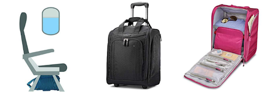 Samsonite wheeled underseat bag personal item