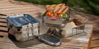 Green Lunch Stainless Steel 3-in-1 Bento Box