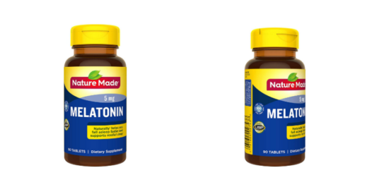 bottles of nature made melatonin