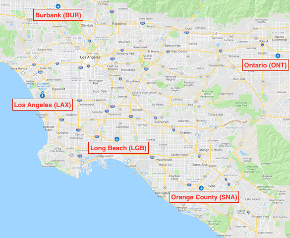 airports around los angeles map Which Los Angeles Area Airport Should You Fly Into 2020 airports around los angeles map