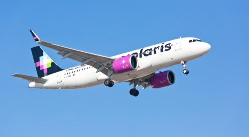 Volaris plane flying