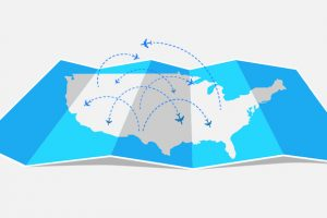 Route Map Hubs Airlines Across America Hub-and-Spoke