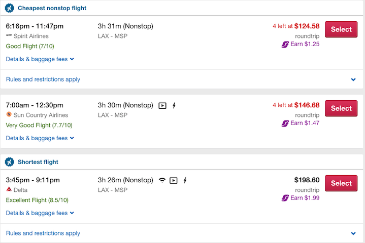 flight scores on orbitz
