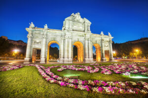 Alt tag not provided for image https://blog.airfarewatchdog.com/uploads/sites/26/2019/06/Madrid-Spain-Alcala-Night-Flowers-Shutter-300x200.jpg