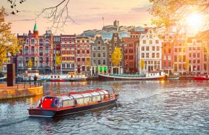 amsterdam canal river boat