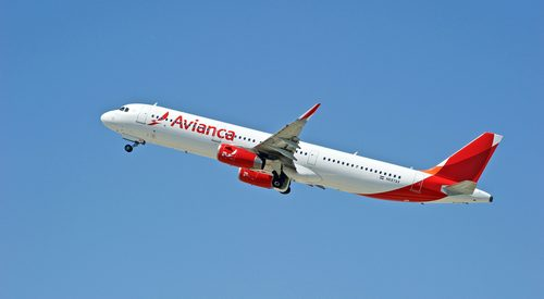 Avianca plane flying
