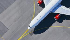 Airplane Generic Aircraft Tarmac Runway Aerial