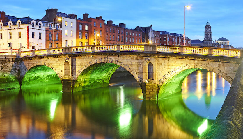 Dublin Ireland Father Matthew Bridge over the Liffey