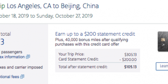 Cheap flight from Los Angeles (LAX) to Beijing (PEK) for $306 roundtrip nonstop