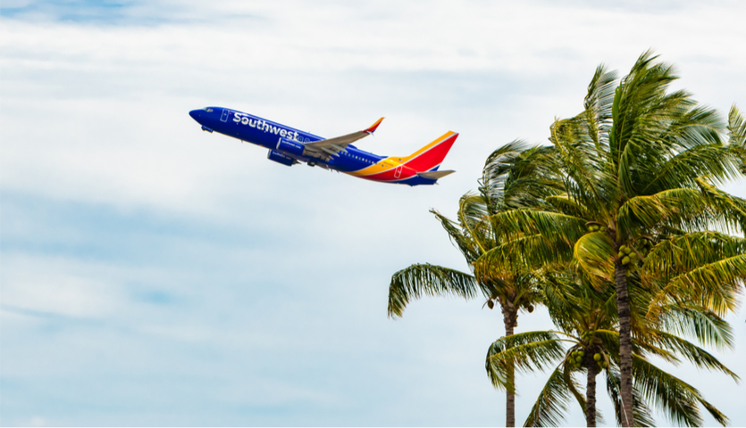 Southwest Airplane Taking Off from Hawaii