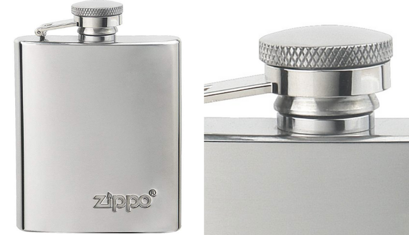 Stainless Steel Zippo Flask for Travel