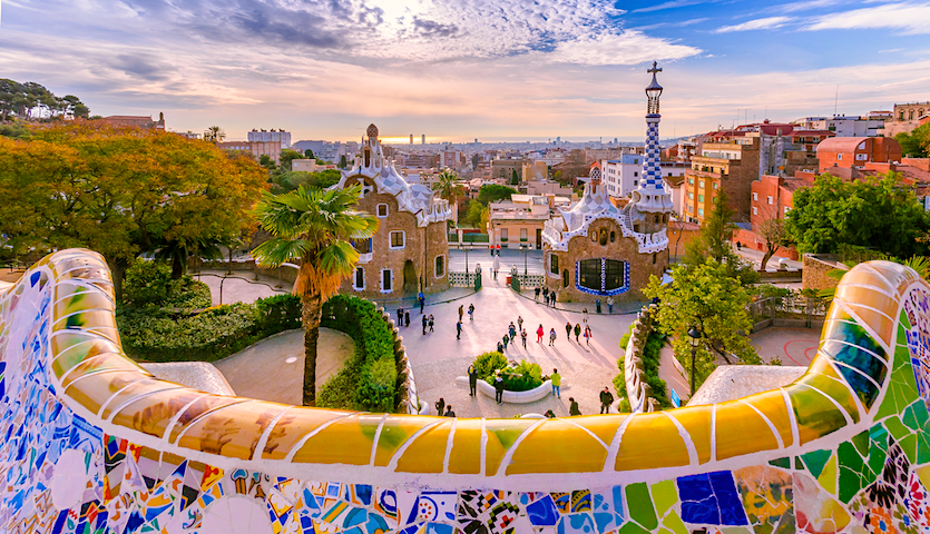 Park Guell in Barcelona Spain by Gaudi
