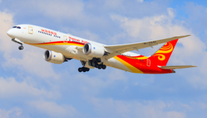 Hainan Airlines aircraft in flights