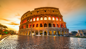 Alt tag not provided for image https://blog.airfarewatchdog.com/uploads/sites/26/2019/08/Rome-Italy-Collesseum-coliseum-sunset-Roma-300x172.png