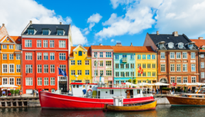 colorful buildings in copenhagen denmark nyhavn pier
