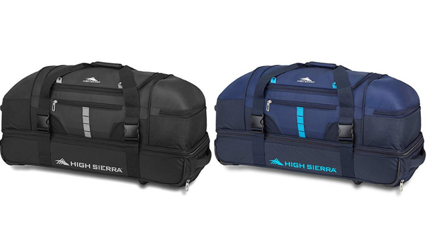 High Sierra Evolution Wheeled Drop Bottom Duffel Bag