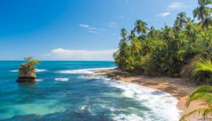 Beach Coastline in Costa Rica