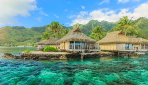 Overwater hut in Tahiti