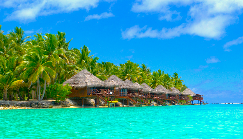 Overwater bungalow in the Cook Islands South Pacific