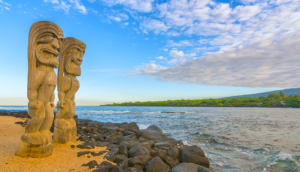 Tiki Statues on the Big Island of Hawaii