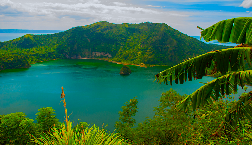 Taal Volcano outside of Manila Philippines