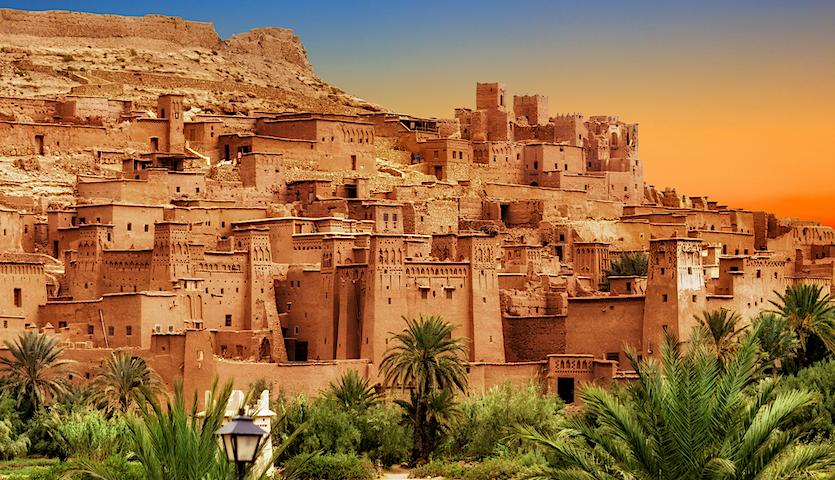 Kasbah Ait Ben Haddou in Morocco outside of Marrakech